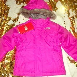 Northface azalea pink down toddler jacket